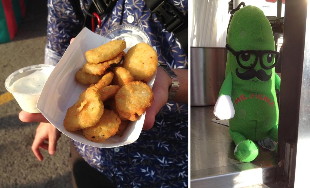 À gauche : Le pickle de Philippe. À droite : Le hipster pickle, qui était pané avant que ce soit trendy.