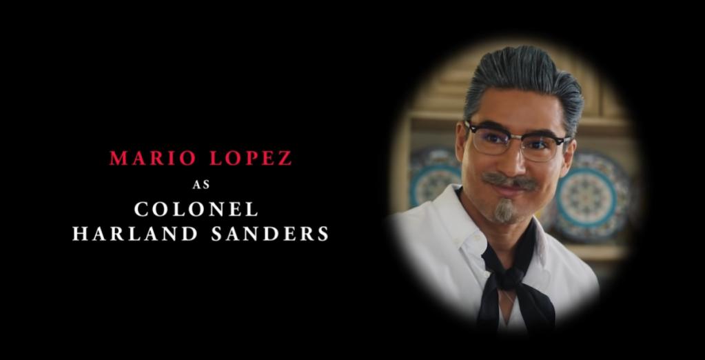 """""""Mario Lopez as Colonel Harland Sanders"""""""