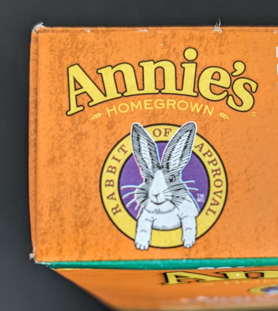 "Le ""Rabbit of approval"" de Annie's"